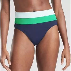 Athleta Tri color high waist swim bottoms Lg